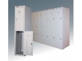 Металлический шкаф для одежды двухдверный ШРС 12-300