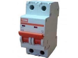 Автоматический выключатель TDM ВА47-29 2P 16А хар-ка С