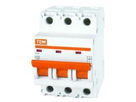 Автоматический выключатель TDM ВА47-29 3P 25А хар-ка С